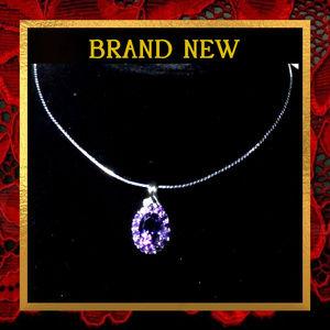 Jewelry - Purple Amethyst Gemstone  Necklace  #057